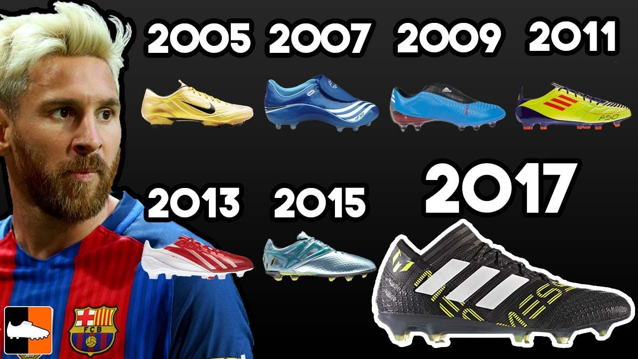 95b1d2da4cef Leo Messi's New Boots & EVERY Cleat He Has Worn Ever!! Football Boots