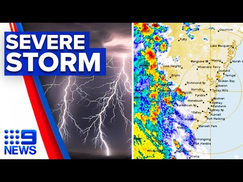 Sydney lashed with severe afternoon storm | 9 News Australia thumbnail