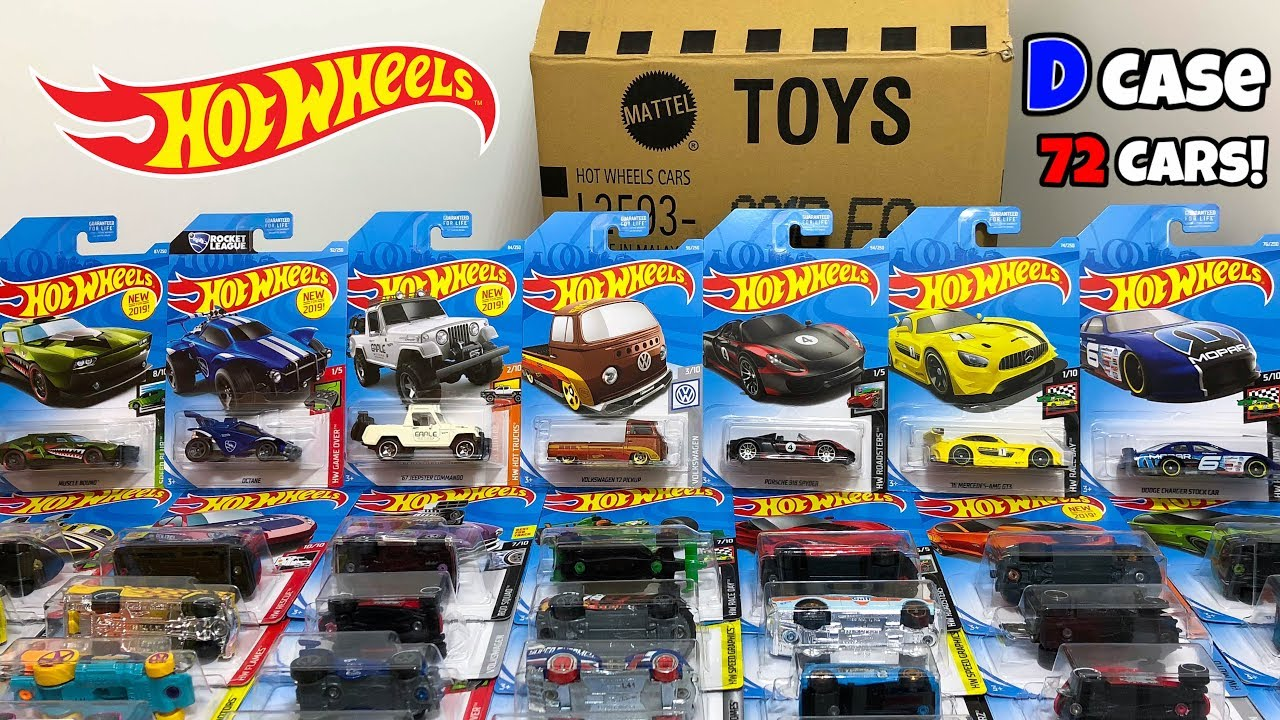 unboxing hot wheels 2019 d case 72 car assortment youtube. Black Bedroom Furniture Sets. Home Design Ideas