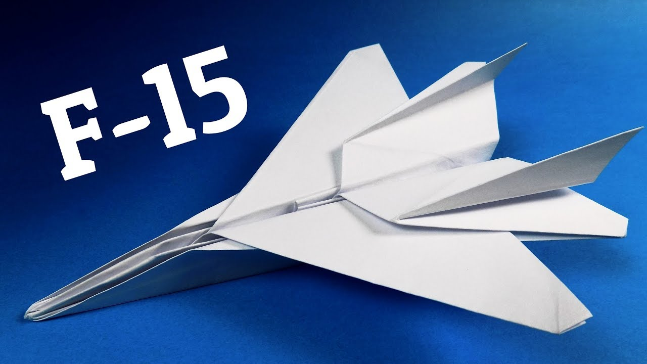 How To Make F-15 Paper Airplane | Origami F-15 Jet Fighter Plane ... | 720x1280