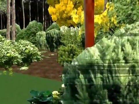 Landscape Design in Sketchup 8 - Forest Garden - ogród ... on Sketchup Backyard id=88917