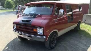 1977 Dodge Van, Tequila Sunrise by Mike Diacontonas