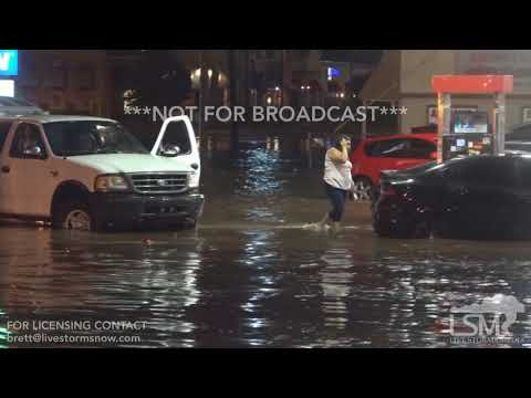 08/14/2018 Oklahoma City Tremendous Flash Flood, Stranded Cars, Waters Into Businesses