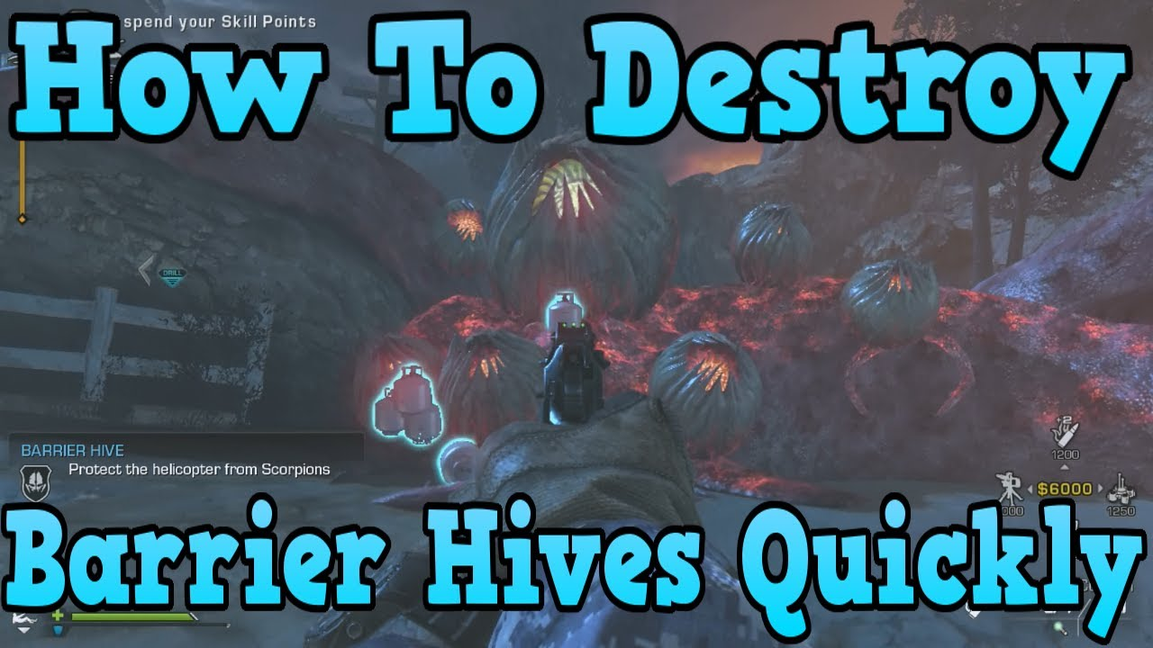 Call Of Duty Ghosts Extinction How To Destroy Barrier Hives Twice