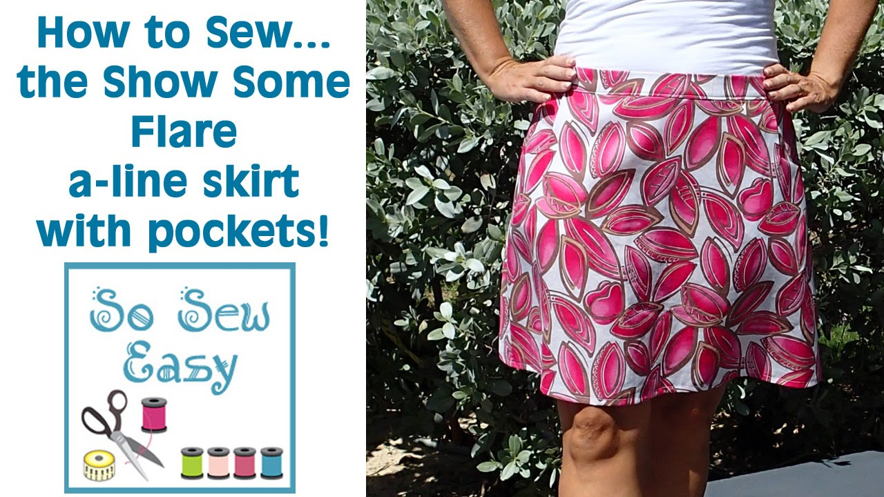 show some flare a line skirt sewing tutorial