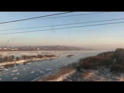 Вид из окна поезда - река Вятка (г.Котельнич)