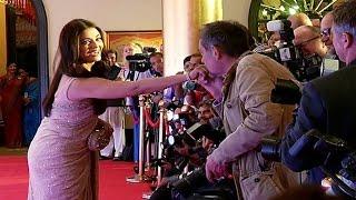 Aishwarya Rai Bachchan gets KISSED by a journalist!