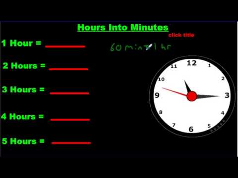 Converting Time From Seconds To Minutes To Hours
