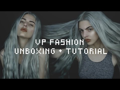 VPfashion hair extensions | unboxing + toning tutorial ft. w