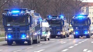 Polizei Großeinsatz 1.FC Magdeburg vs FC Hansa Rostock