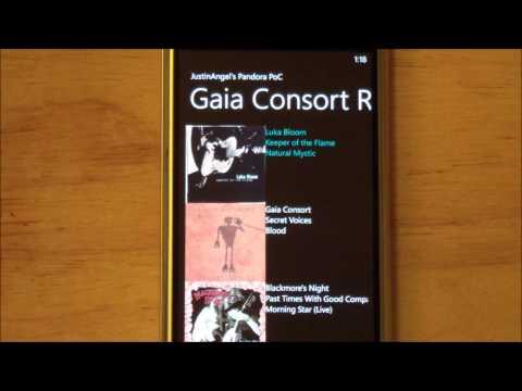 Pandora Radio proof-of-concept for WP7