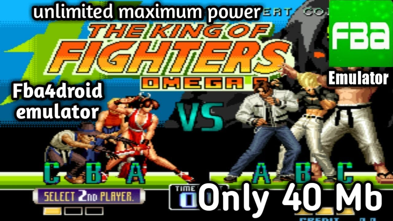 How do download king of fighter omega 2002 sexy plus only 40 mb play  fba4droid emulator inside