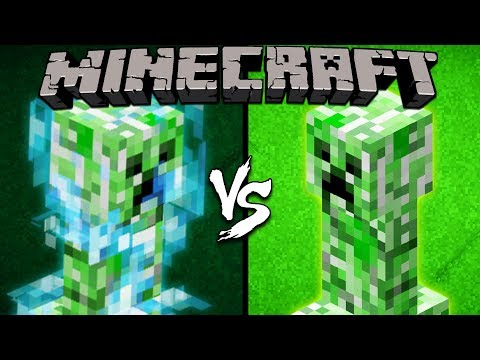 Charged Creeper vs. Creeper - Minecraft