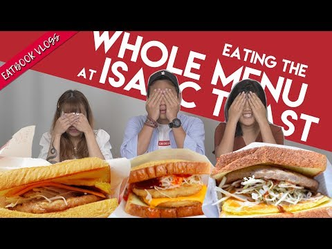 TRYING ALL OF ISAAC TOAST IN SG!   Eatbook Vlogs   EP 64