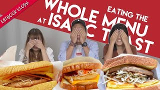 Trying Everything From Isaac Toast in SG!   Eatbook Tries Everything   EP 2