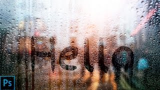 How to write on a rainy window — Photoshop Tutorial