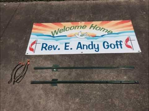Diy Outdoor Banner Sign Installation Setup Easy Low