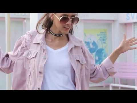 0680bd7d85 Rips Detail Boyfriend Denim Jacket from SHEIN - YouTube