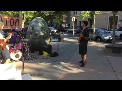 Street jammin' with Equator at Downtown Palo Alto