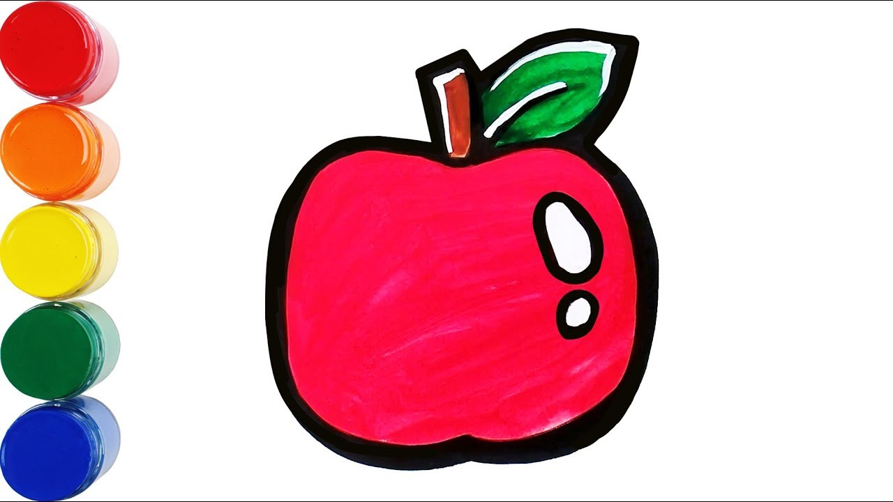 Apple Coloring Learn Color Learn Coloring Children Coloring Mini Art Kids Youtube