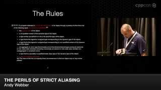 "CppCon 2014: Lightning Talks - Andy Webber ""The Perils of Strict Aliasing"""