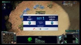 SPL [12.24] Fantasy (SKT) vs Stork (Samsung) 1set / Arkanoid - Starcraft 2