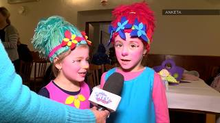 Dětský karneval │ Čert a anděl ► Kozlovice │ Region Beskydy │ BeskydskaTelevize.cz