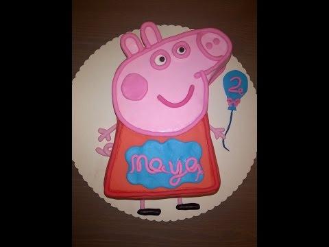05 - Peppa Pig - Peppa Wutz Geburtstagstorte Cake Tutorial Buttercreme Fondant Torte Buttercream