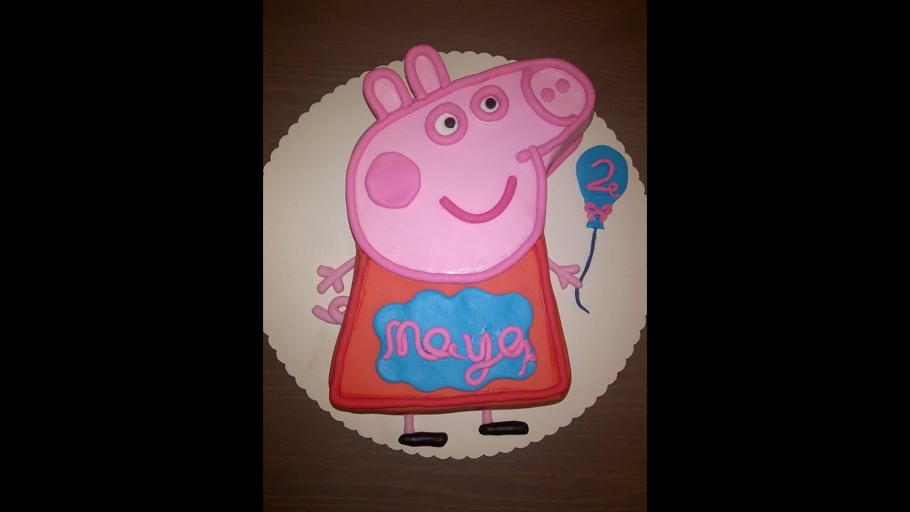 05  Peppa Pig  Peppa Wutz Geburtstagstorte Cake Tutorial Buttercreme Fondant Torte Buttercream