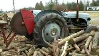 Cut two logs
