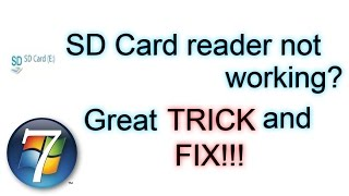 SD Card reader not working? Great TRICK and FIX!!!