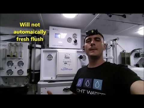 Sea Recovery watermaker repair on Westport 85'