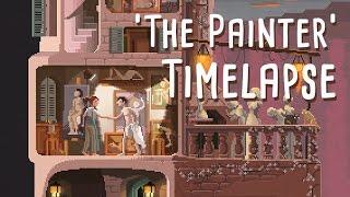 Pixel art Scene #18: 'The Painter' Timelapse