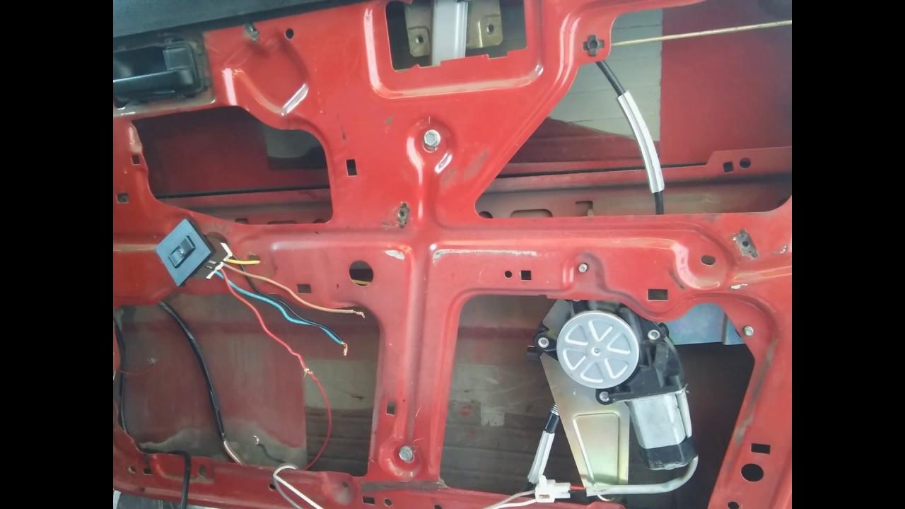 Circuito Levanta Vidrios Electricos : Adaptación de levanta vidrios eléctricos fiat duna youtube