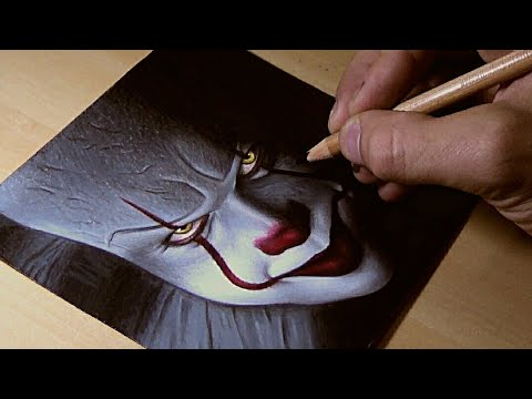 "HOW TO DRAW ""IT"" (PENNYWISE) STEP BY STEP"