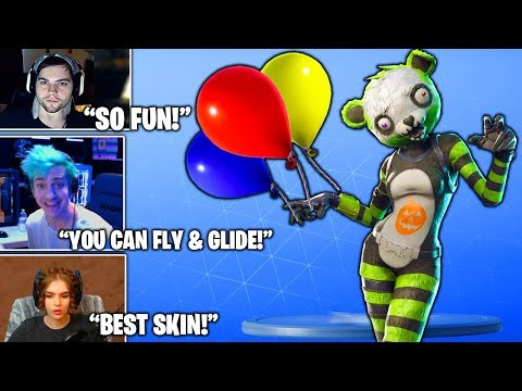 STREAMERS Reacts TO *NEW* Spooky Team Leader In Shop & Balloons Item! (Fortnite Moments)