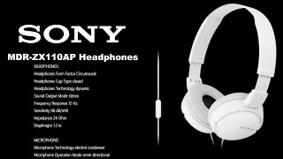 Sony MDR-ZX110AP Headphones Unboxing