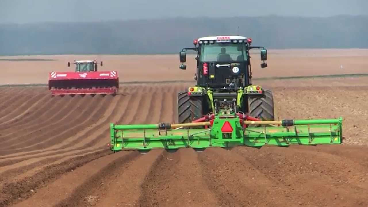 claas xerion 4500 axion 840 grimme gl 660 planting potato kartoffeln pflanzen youtube. Black Bedroom Furniture Sets. Home Design Ideas