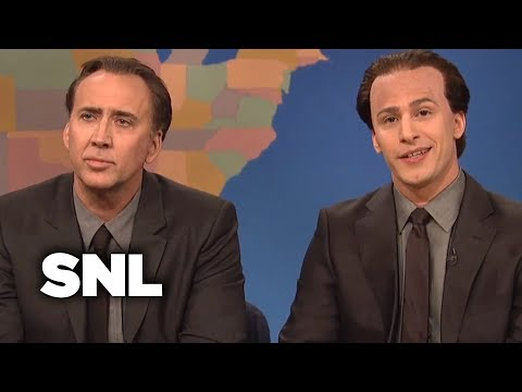 Weekend Update Get In The Cage With Nicolas Cage And Nicolas Cage