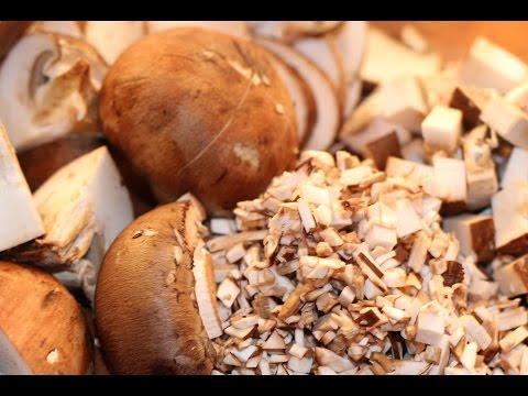 How To Cut Bella Mushrooms-Dice, slice, cube, minc