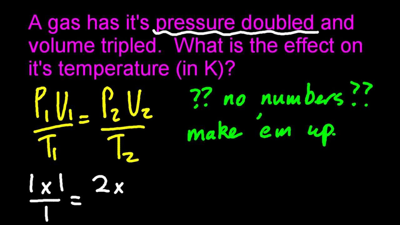 1 3 Solve problems on T, P and V for a fixed mass of an ideal gas [SL IB  Chemistry]