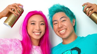 Extreme $4,000 Colorful Hair Dye Challenge, Amazing Transformation | ZHC Crafts