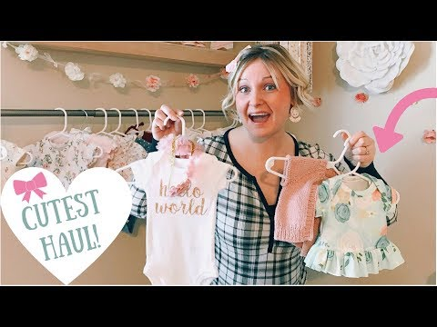 Baby Girl's First ADORABLE Clothing HAUL!