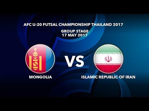 M11 MONGOLIA vs ISLAMIC REPUBLIC OF IRAN - AFC U-20 Futsal Championship Thailand 2017