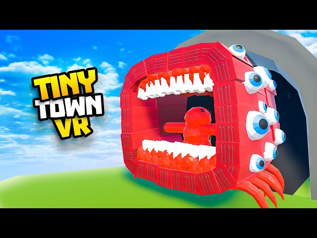 The Mega TRAIN EATER Can't Be STOPPED - Tiny Town VR