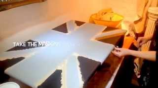 Union Jack coffee table tutorial. Annie Sloan paint. Home Revival Interiors.