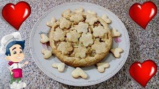 Пирог с Бананом и Яблоком Рецепт