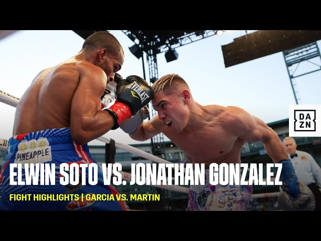FIGHT HIGHLIGHTS   Elwin Soto vs. Jonathan Gonzalez