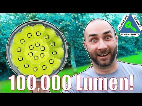 100,000 Lumen Flashlight.  Imalent MS18