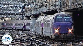 Quelques trains de Paris Saint-Lazare au nord de Paris.